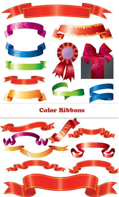 Assorted Colored Ribbons
