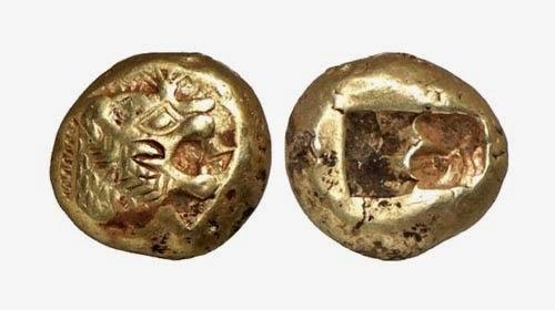 Самая древняя монета в мире фото 2 злотых волки