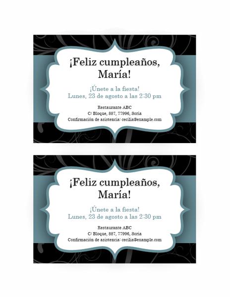 Formato Para Invitaciones De Cumple Anos