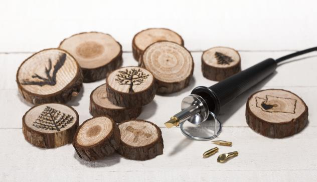 Wood Burning Mini Logs @craftsavy, #craftwarehouse, #woodburning