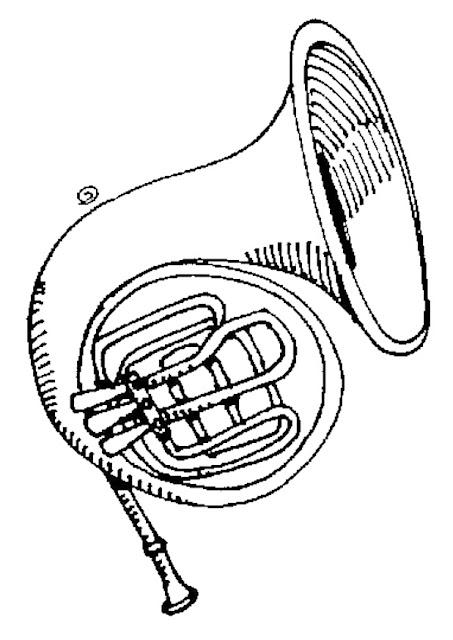 Instrumentos Musicais para colorir Tuba para colorir