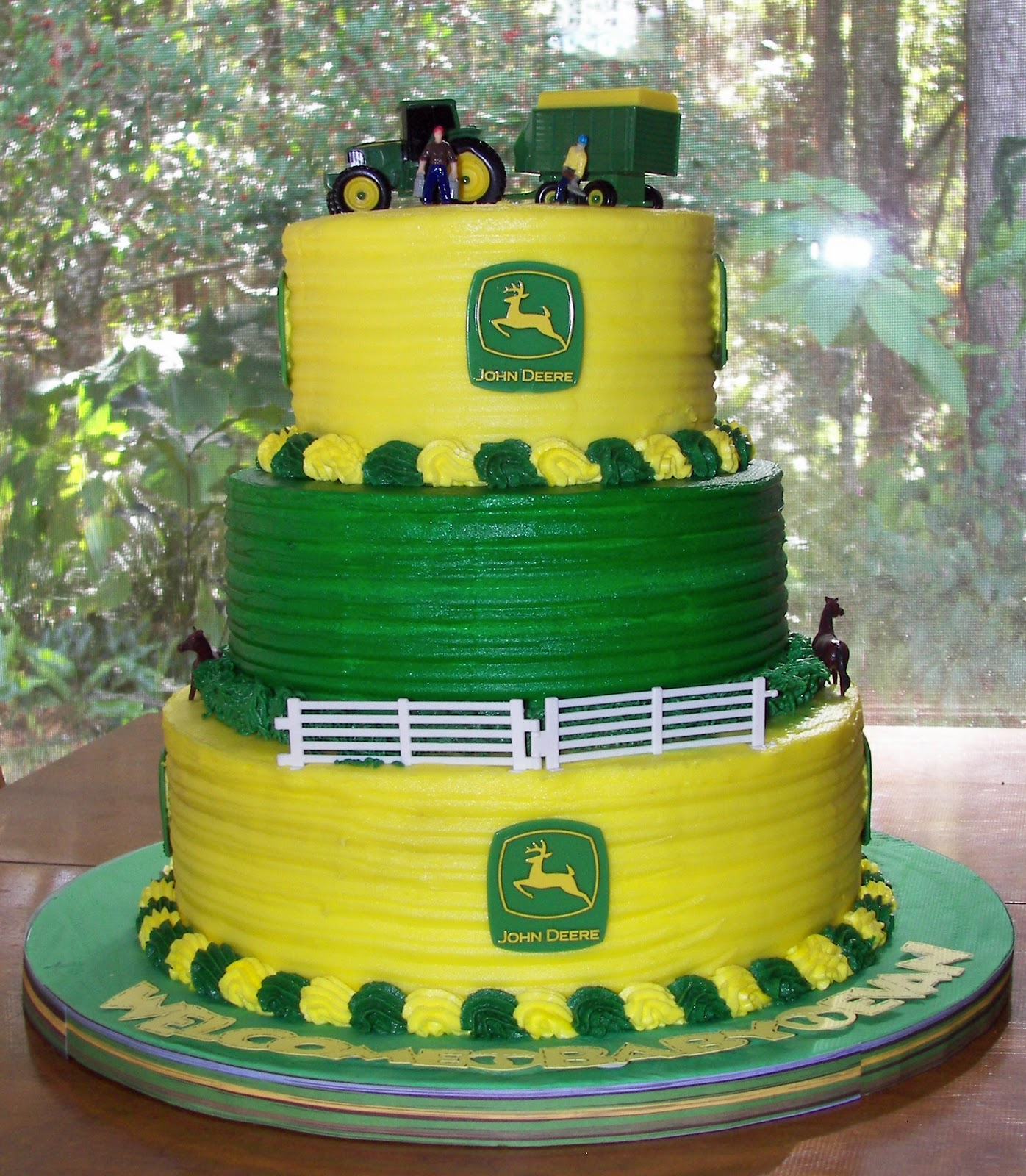 John Deere Baby Shower Cake