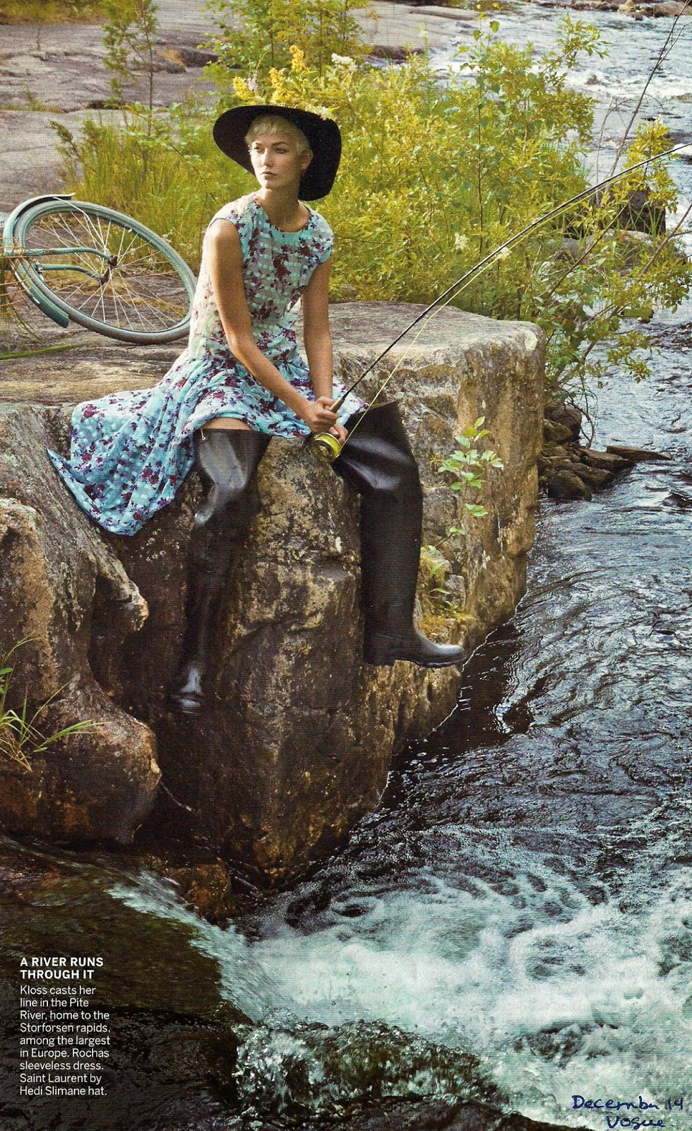 streamside chic in Vogue December 2014