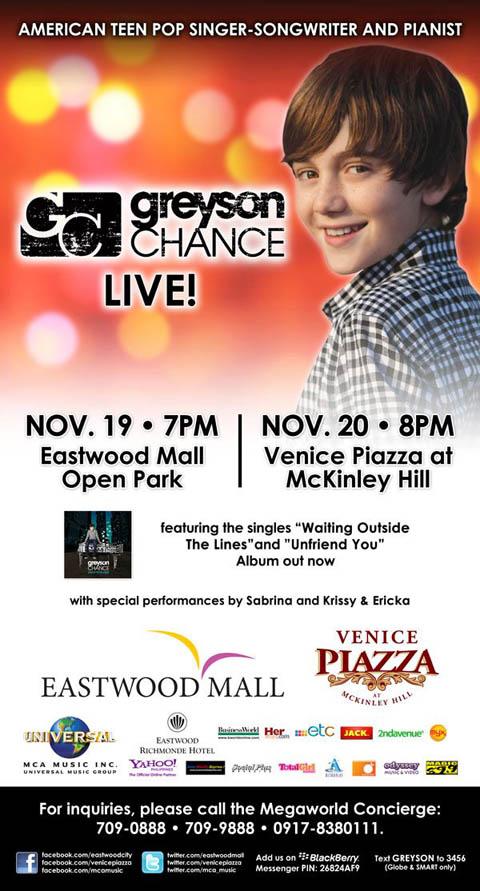 Greyson Chance Live In Manila