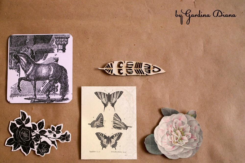 Доска вдохновения, или moodboard (мудборд) из крафт-бумаги, булавок, скотча, картинок и фотографий.