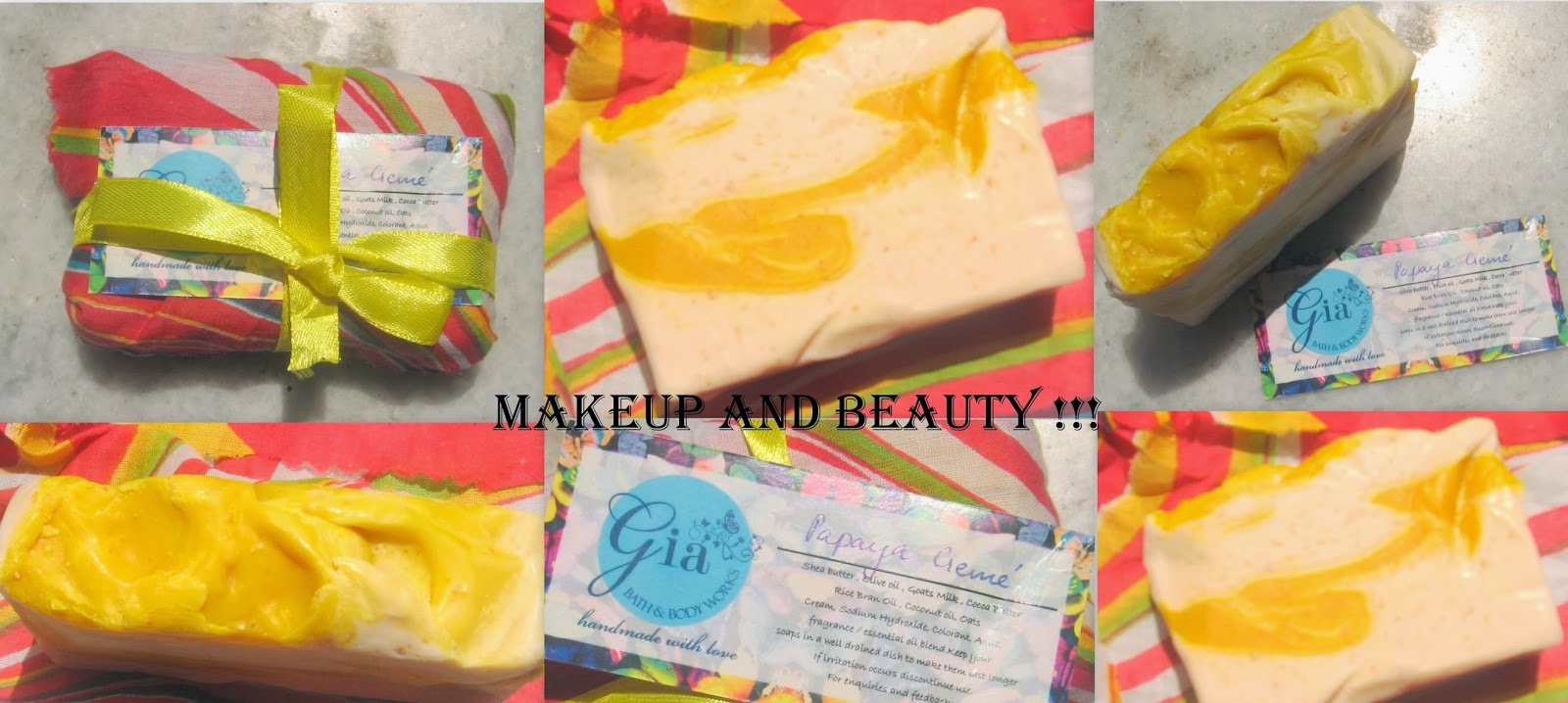 makeup and beauty review on gia bath and body works gia bath and body works products are totally handmade and so they are no chemicals in it coming to the shower gels