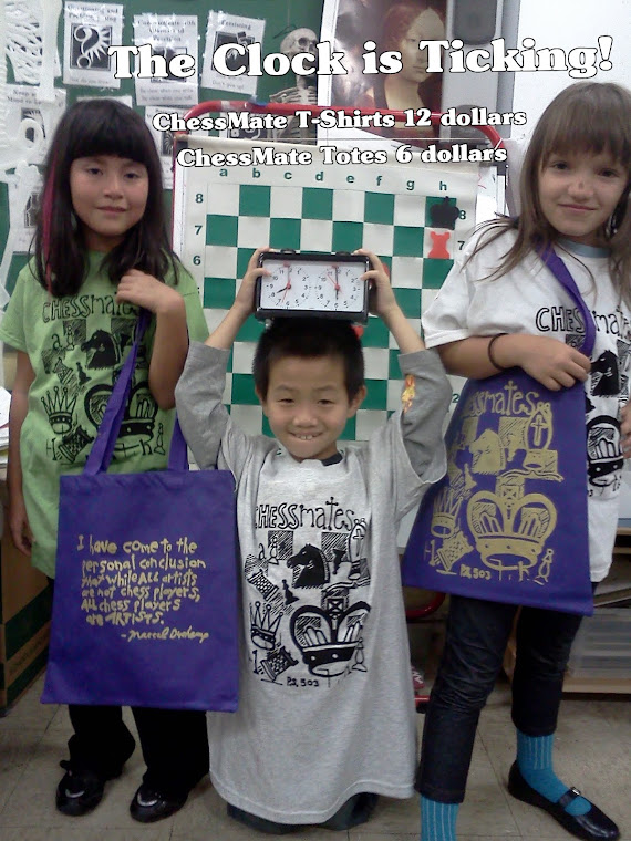 ChessMates Gear! $12  Shirts and $6 dollar totes.
