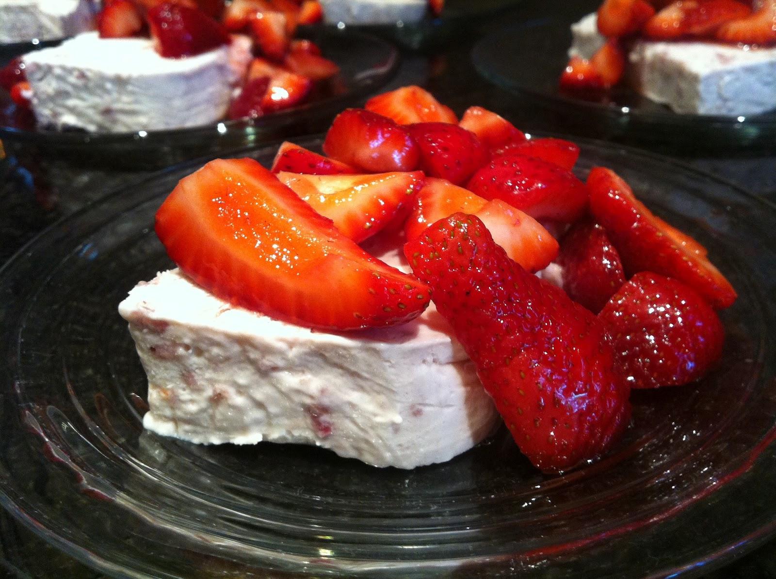 For the Love of Food: Strawberry and Cream Semifreddo