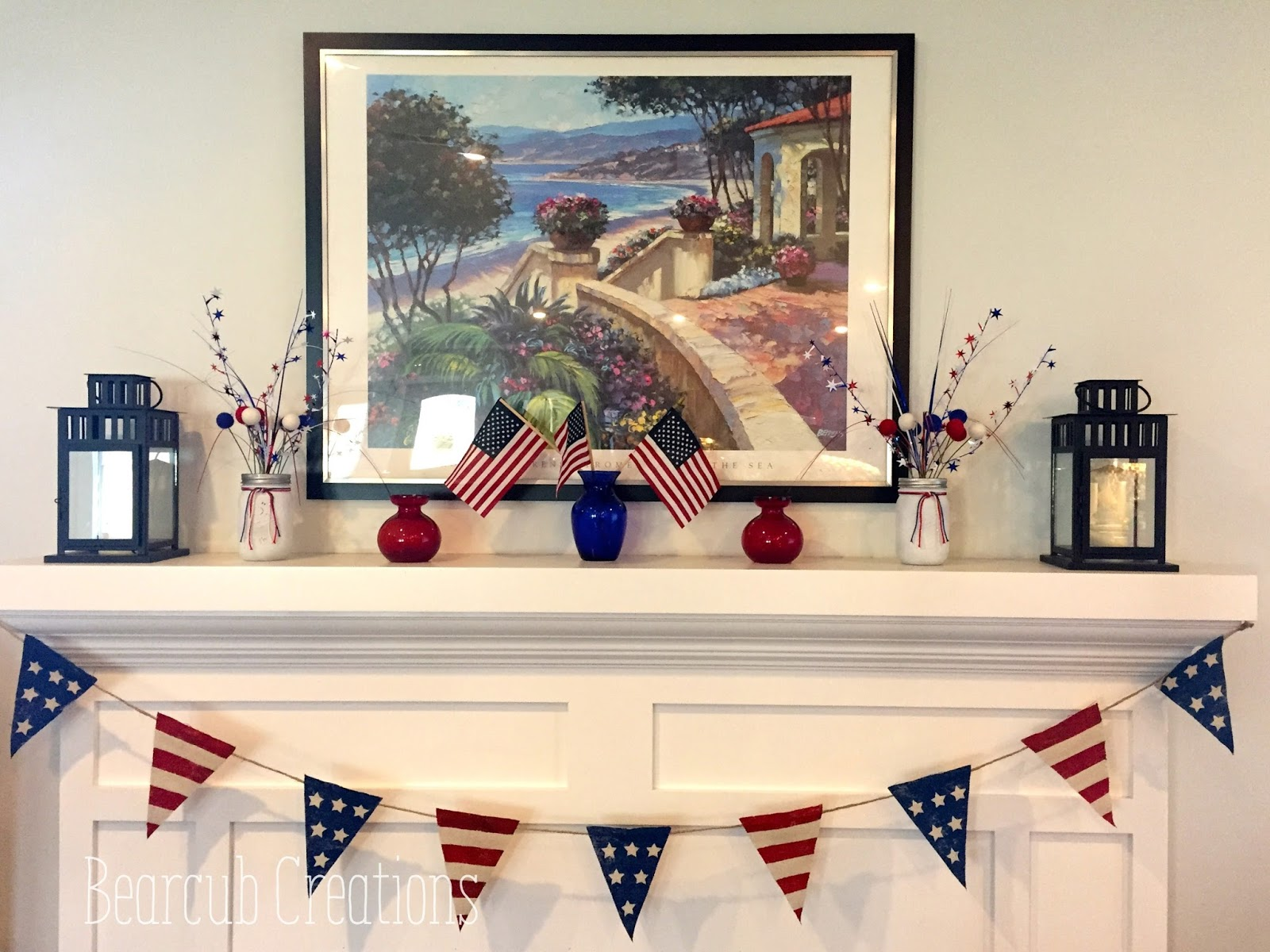 it turned out great and i made extra to decorate our front porch for our 4th of july party