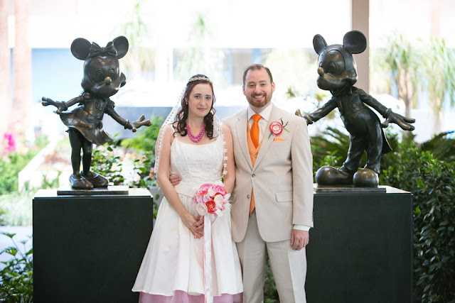Disneyland Hotel Wedding - Bride and Groom