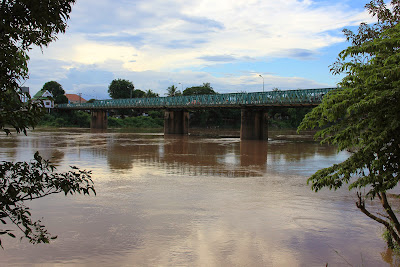 French Bridge over the river Sedone passing through Pakse