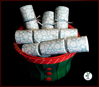 "Christmas Crackers - ""Snowflakes"" design"
