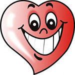 Coração muito feliz