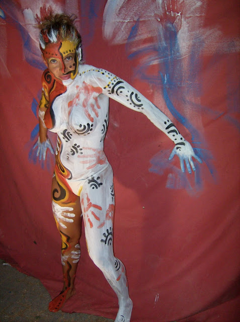 body paint girl sexy art form is not fully known