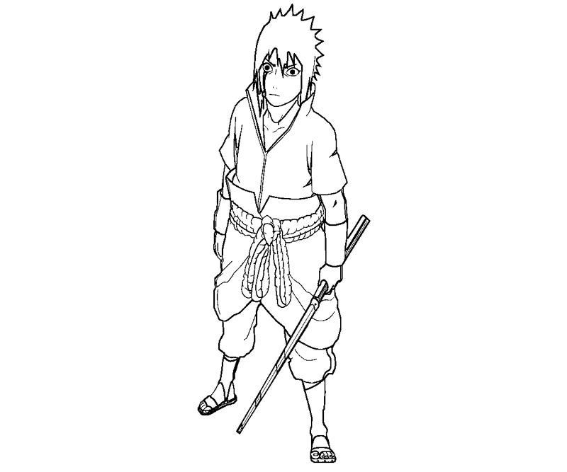sasuke uchiha 15 coloring page