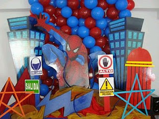 Children Parties,Spiderman Decoration