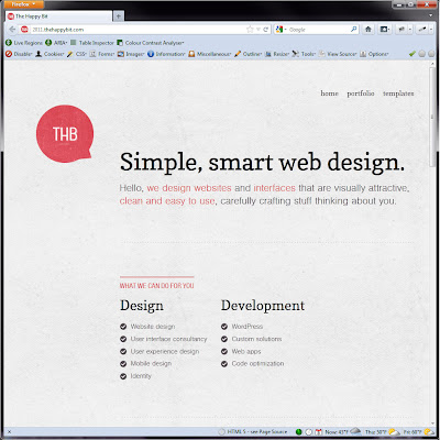 Screen shot of http://2011.thehappybit.com/.