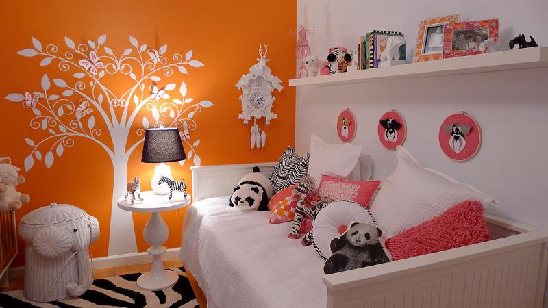 Baby Nursery Girlie Orange Modern Hip Design Dazzle