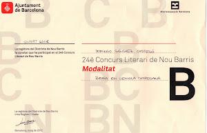 Diploma Certamen Nou Barris 2012