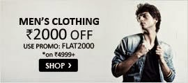 Snapdeal:Get Rs. 2000 off on Rs. 4999 on Clothing and Footwears