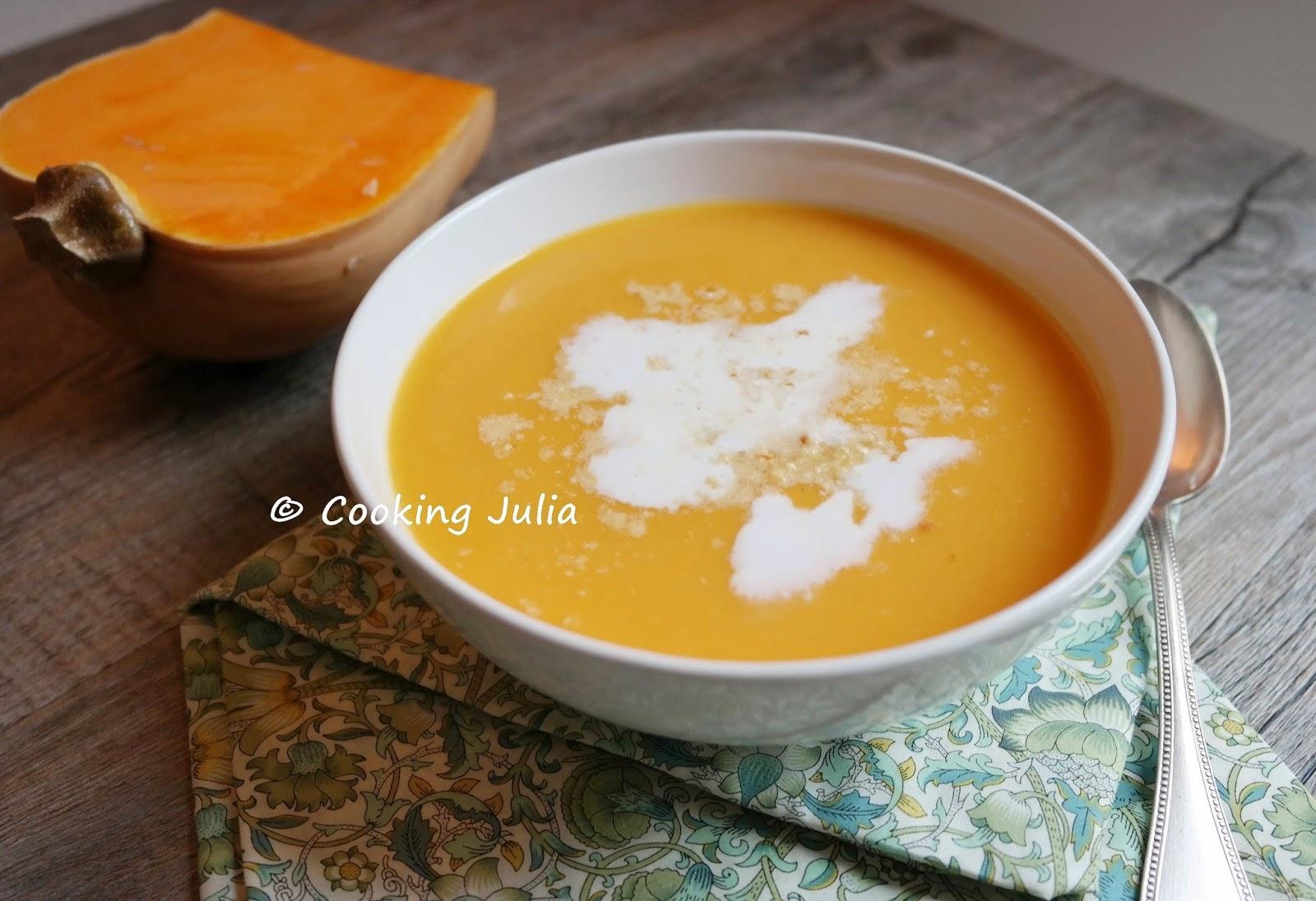 Cooking julia velout de butternut au lait de coco - Soupe butternut thermomix ...