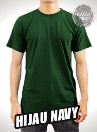Kaos Polos Hijau Navy