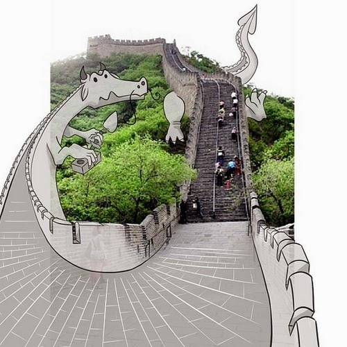 13-Great-Wall-of-China-in-Beijing-Cheryl-H-The-Dreaming-Clouds-Drawings-www-designstack-co
