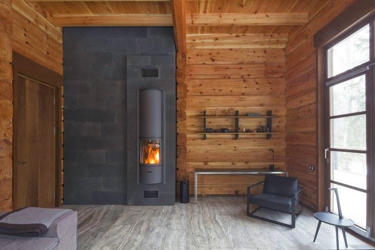 Diseño de casa de madera de tres pisos más planos, fachada e ...
