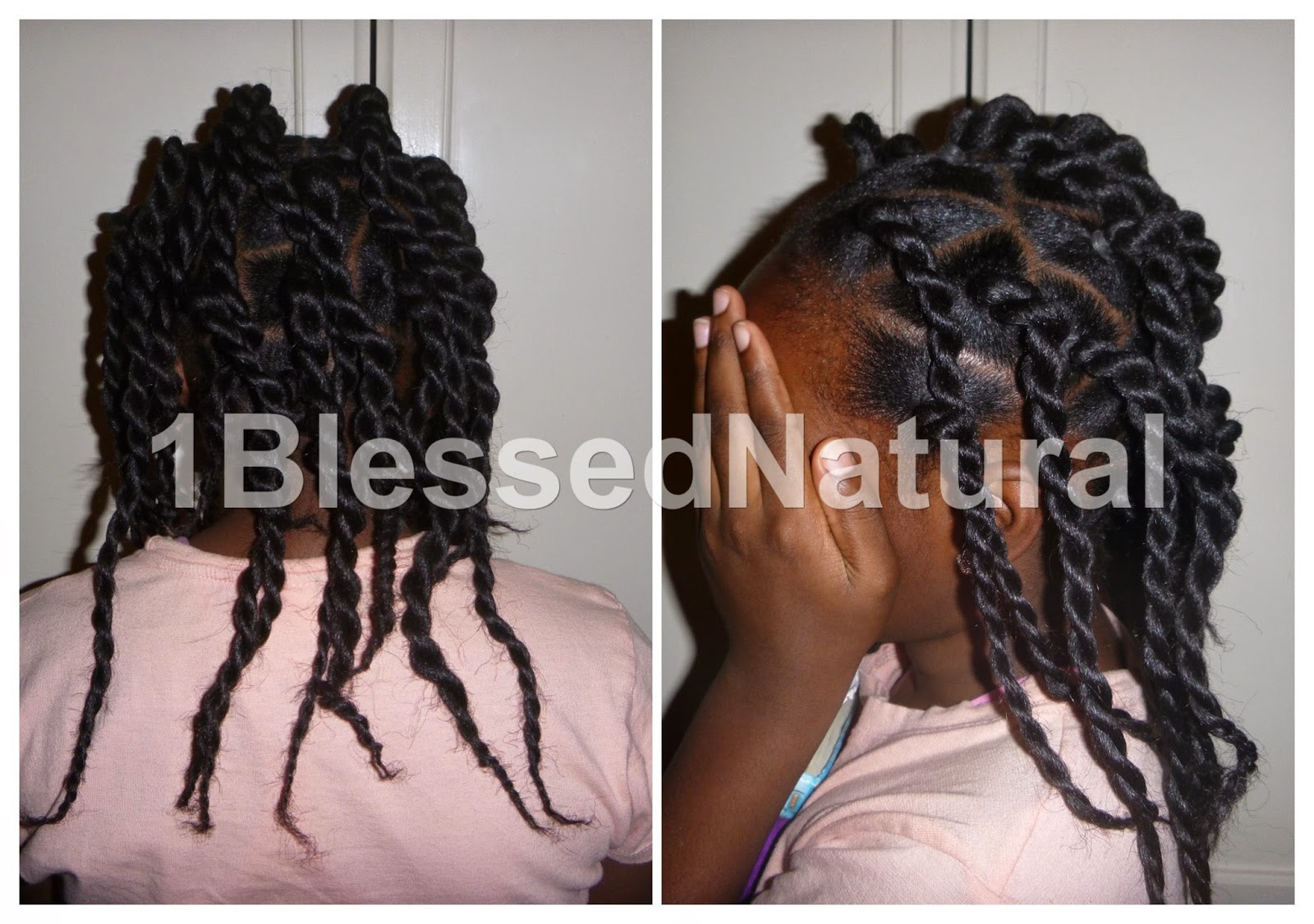 1blessednatural: Big Sister Natural's Rubber Band (twostrand) Twists