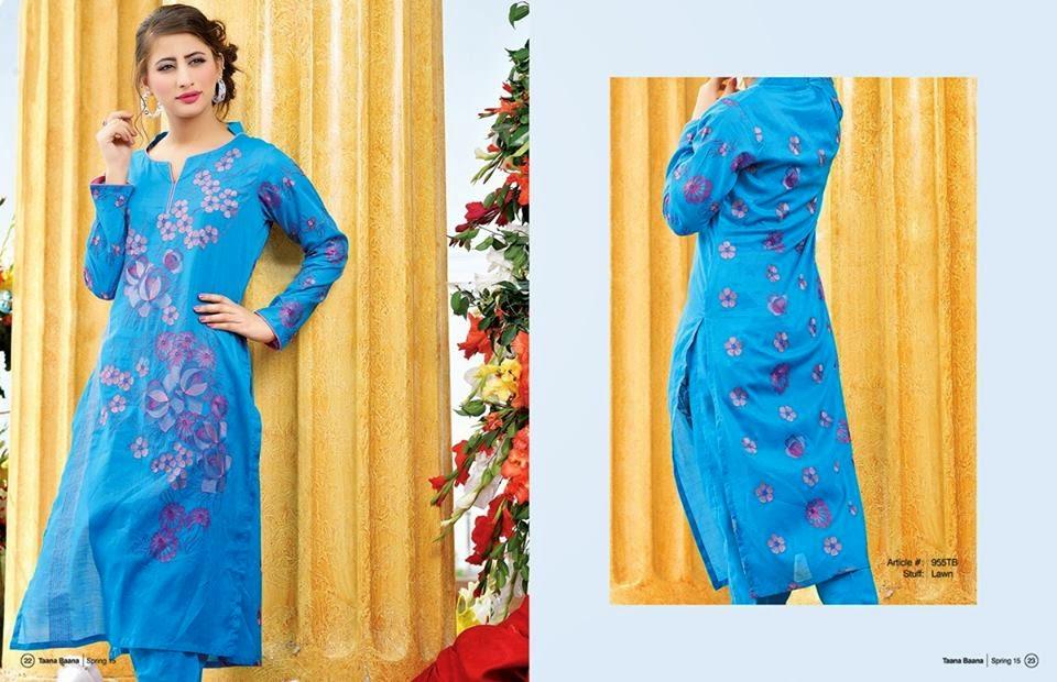 Taana baana Pakistani lawn dresses