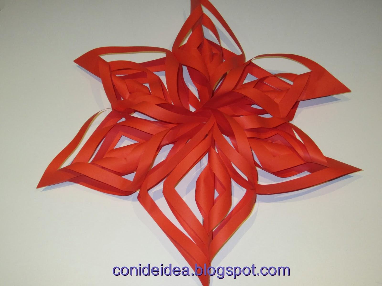 Manualidades con i de idea estrella o copo de nieve for Estrella de nieve