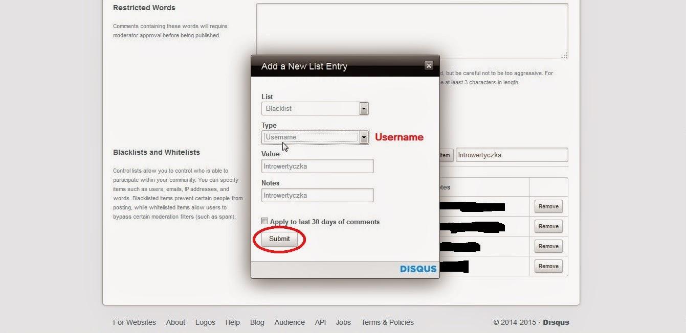 Disqus - dodawanie użytkownika na czarną listę