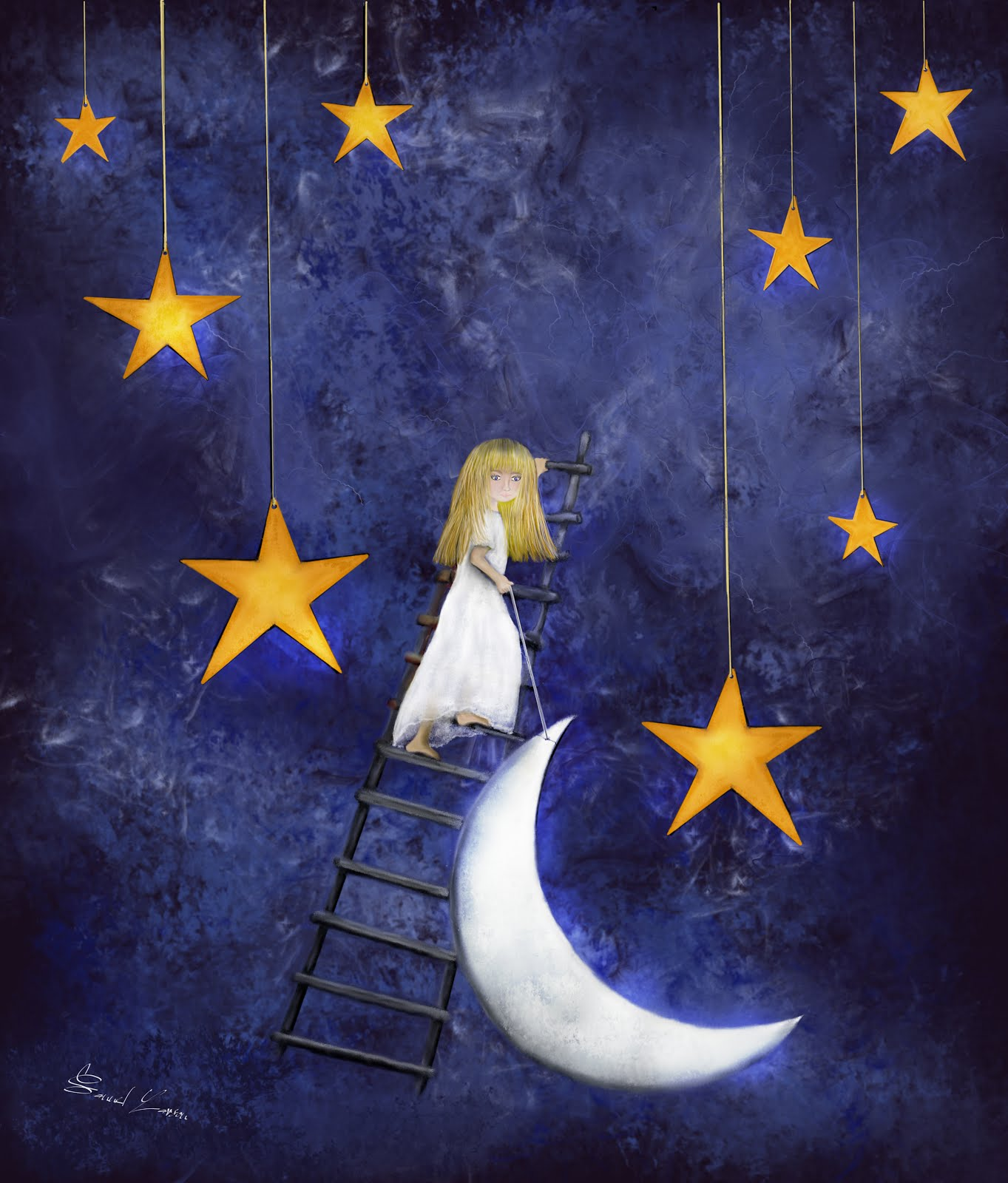 Time to go to Sleep - Fairytale Wall Art Poster