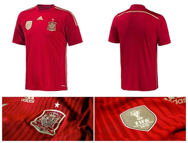 Jersey+Spanyol+Home+Piala+Dunia+2014