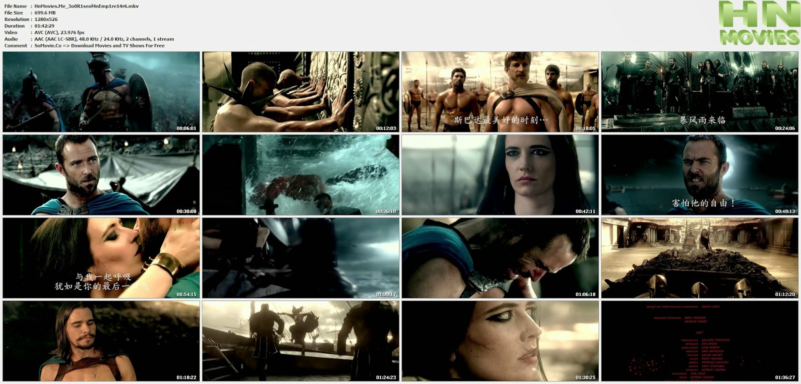 300 Rise of an Empire (2014) R6 720p 700MB