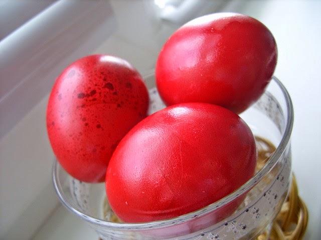 Lovely red eggs for health