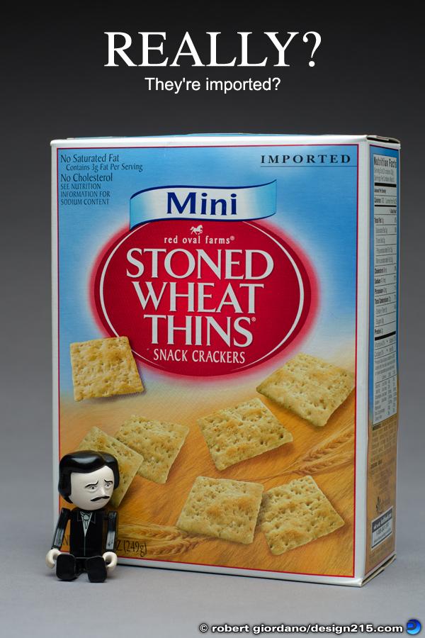 Stoned Wheat Thins - Really? Copyright 2012 Robert Giordano