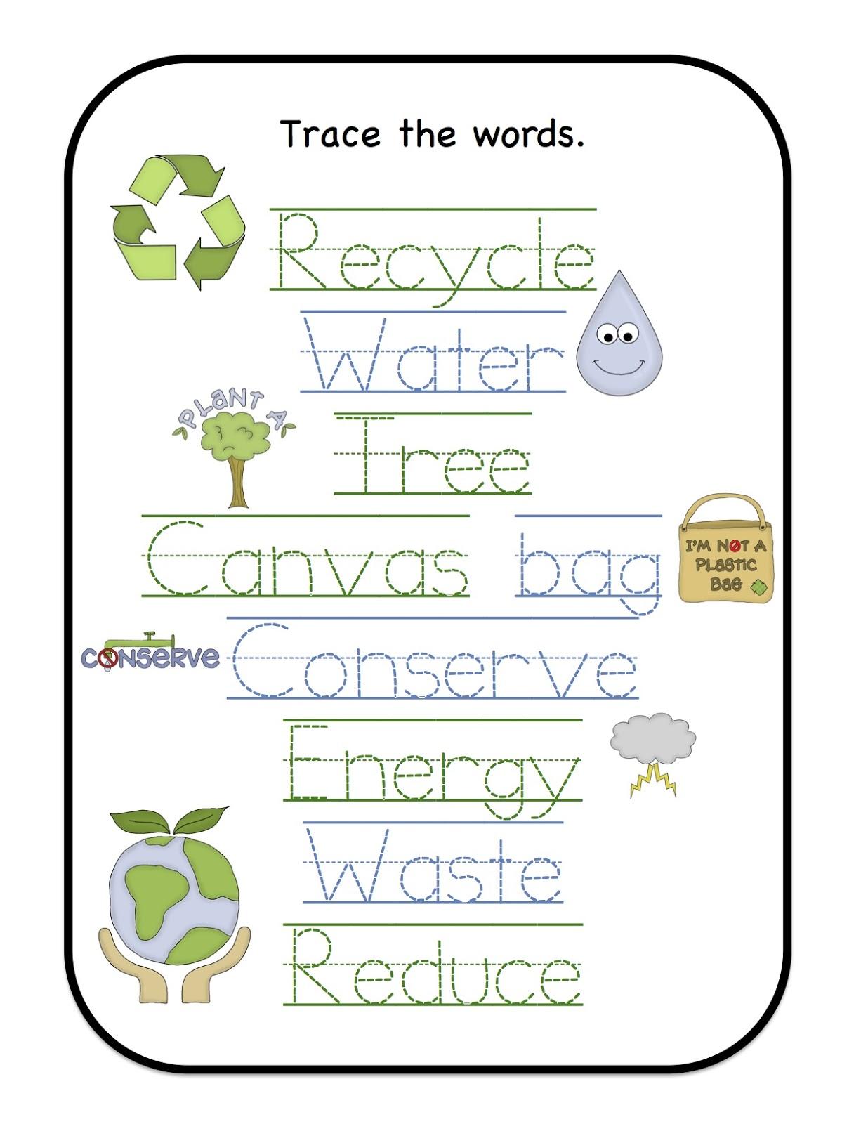 earth day printable 2013 preschool printables