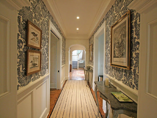 Vintage Foyer Wallpaper : Antique homes and lifestyle wallpaper wednesday foyer