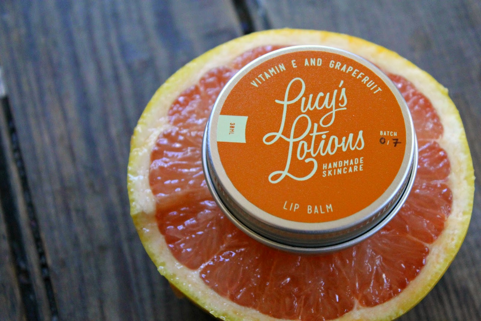 Lucy's Lotions: Grapefruit Lip Balm Giveaway