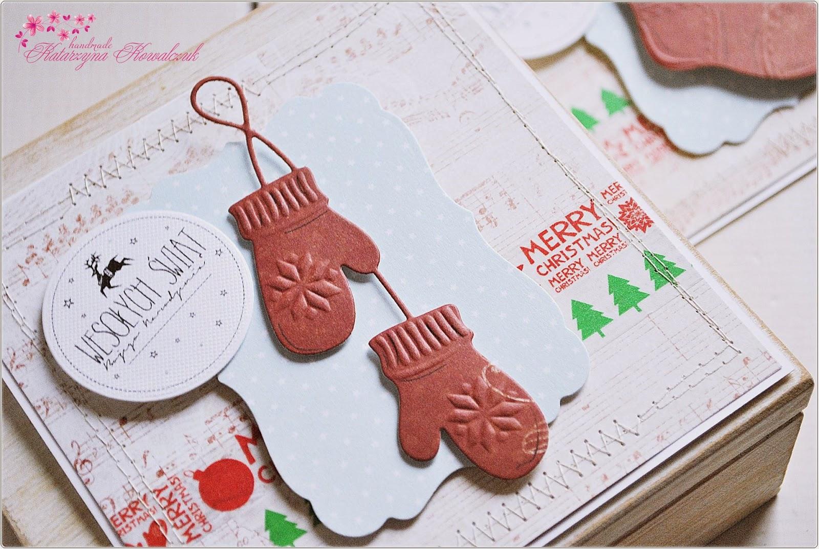 kartka świąteczna, boże narodzenie, scrapbooking