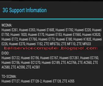 ... modem GSM dan CDMA-EVDO yang cocok dan bisa dipakai di tablet android