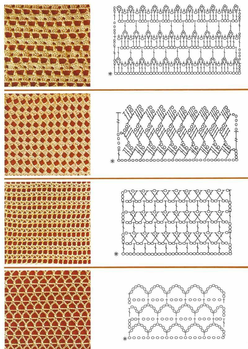 Mis tejidos en crochet y dos agujas (palitos): Patrones en Crochet