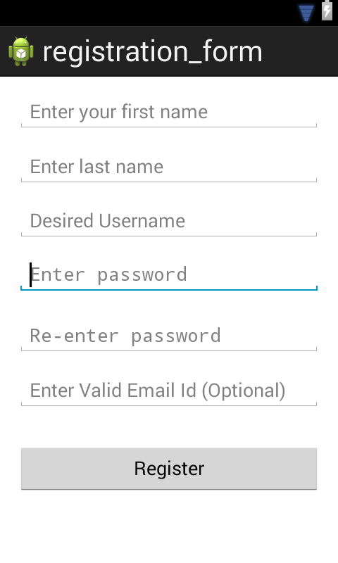 Registration Form in Android with Validation | Android Tutorials
