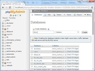 Konfigurasi Database Framework Laravel dan Library-Library Penting di Laravel.