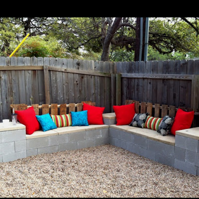 Pinspirational projects outdoor sectional plans for Cinder block seating area