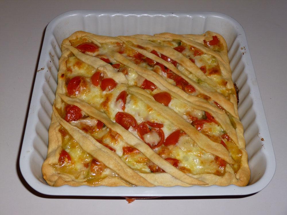 Ben noto Torta salata con pomodori zucchine e mozzarella | www  VF08