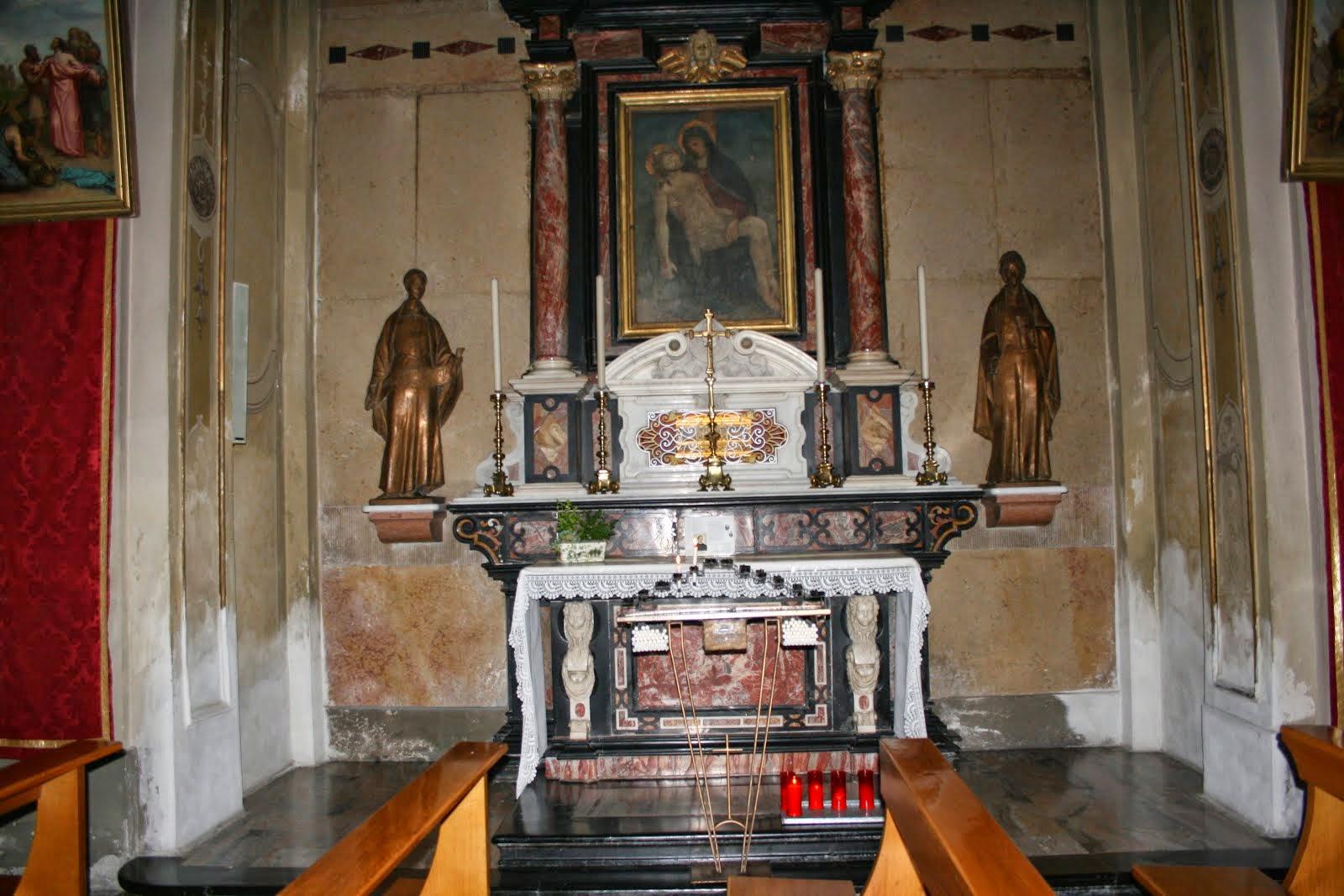 Altare dove Bartolomea ha pronunciato i suoi voti