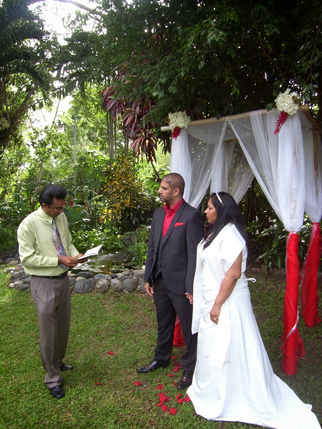 beautiful garden wedding Tobago
