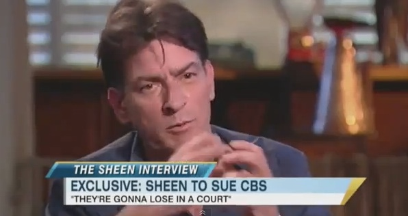 Charlie sheen announced that